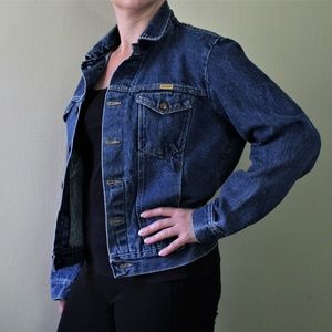 Vintage Rustler Soft Denim Trucker Jacket Med Lrg